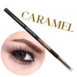 COSLUXE Slimbrow Pencil #Caramel สีน้ำตาลอ่อน ดินสอเขียนคิ้วเนื้อฝุ่นอัดแข็ง ช่วยในการแรเงาคิ้วได้อย่างเป็นธรรมชาติที่สุด แท่งหมุนแบบ Auto ไม่ต้องเหลาและ นวัตกรรมหัวเรียวเล็กเพียง 1 mm.ทำให้สามารถ เขียนคิ้วเป๊ะ