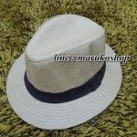 หมวกปานามาปีกกว้าง หมวกสาน หมวกปานามาสีน้ำตาลอ่อนคาดน้ำตาล พร้อมส่งค่ะ **รูปถ่ายจากสินค้าจริงที่ขายค่ะ**