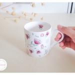 Bone China Mug - Blooming Spring Flowers แก้วโบน ไชน่า ลายดอกไม้