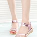 รองเท้าแตะผู้หญิงสีเงิน รัดส้น ประดับเพชร สไตล์โบฮีเมียน หรูหรา ใส่แล้วเท้าขาวสวย แฟชั่นเกาหลี