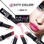 City Color Be Matte Lipsticks ลิปสติกเนื้อแมทรุ่นล่าสุด สีสันร้อนแรง ดูเปล่งประกายได้ดังใจ ตอบสนองทุกความต้องการของสาวๆทุกวัย เนื้อลิปพิกเมนต์สีแน่น ให้สีสดชัดเจน กลบสีริมฝีปากได้อย่างแนบเนียนโดยไม่ทำให้ริมฝีปากเกิดอาการระคายเคือง