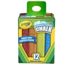 Crayola Washable Sidewalk Chalk ชอล์กสีสำหรับเขียนพื้น กำแพง ซีเมนต์ กล่องละ 12 แท่ง ล้างออกได้ ปลอดสารพิษ