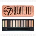 W7 Beat It! Natural Nudes Eye Color Palette ปรบมือรัวๆ ให้กับพาเลทสีนี้เลยคะ สีสวยโทนนู้ดน้ำตาลทอง อายเชโดว์ 12 สีสวย มีเนื้อแมท 4 สี และเนื้อชิมเมอร์ประกายระยิบระยับ อีก 8 สี สีแต่งง่ายใช้ได้ทุกวัน ปรับแต่งอ่อนเข้มด้วยสีน้ำตาลเข้มตัดขอบตา หรือจะระบายสีอ่