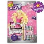 Crayola Color Alive - Barbie สมุดระบายสีพร้อมสีเทียน ชุดบาร์บี้ 4 มิติ