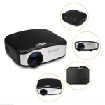HAZU MINI HD LED Projector 1200 LUMENS ความละเอียด 800x480 support 720P 1080P