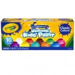 Crayola Washable Kid's Paint สีน้ำ 10 สี พร้อมใช้ในขวดพลาสติกอย่างดี ล้างออกได้ ปลอดสารพิษ สำเนา