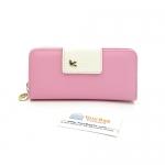 กระเป๋าสตางค์ผู้หญิง ทรงยาว รุ่น Cheer Pink/White