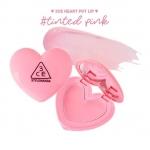 3CE Heart Pot Lip #TINTED PINK สีชมพูพาสเทล ลิปปาล์มเปลี่ยนสีที่มาพร้อมส่วนผสมที่ช่วยบำรุงปากพร้อมทั้งเปลี่ยนสีปากไปพร้อมๆกัน มาในแพคเกจหัวใจสุดคิ้วท์พร้อมทั้งกระจกในตลับเดียวกัน มาในไซส์ 1.4 กรัม