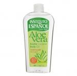 Instituto Espanol Aloe Vera Body Oil 400 ml. บอดี้ออยล์บำรุงผิวจากน้ำมันว่านหางจระเข้ ป้องกันผิวแห้ง ผิวหนังอักเสบ ผิวไหม้แสบร้อนจากแสงแดด ช่วยลดอาการท้องลายหลังคลอด ให้ความเย็นผิว ต่อต้านเชื้อแบคทีเรียช่วยสมานแผล รักษาสิวฝ้า และขจัดรอยแผลเป็น