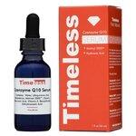 Timeless Coenzyme Q10 Serum 30 ml. เซรั่มคิวเทน ช่วยเรื่องริ้วรอย ตีนกา แผลเป็น จุดด่างดำ ความชุมชื่น หน้านุ่ม เรียบเนียน ช่วยเลือนเส้นริ้วรอยแลดูลดลง เพื่อให้ผิวดูอ่อนเยาว์และดูสุขภาพผิวดี ช่วยให้ปรับโทนผิวหน้าให้ดูสม่ำเสมอ ชุ่มชื่นขึ้น