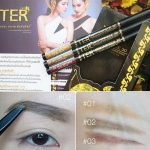 TER Masterpiece 3D Water Proof Auto Eyebrow Pencil ดินสอเขียนคิ้วแบรนด์ใหม่ ดินสอเขียนคิ้วเนื้อฝุ่นอัดแข็ง ทนน้ำทนมัน คิ้วไม่หายทั้งวัน เผลอรูดคิ้วไม่หลุด คิ้วที่ได้จะซอฟ์ทธรรมชาติ เบาๆค่ะ หรือจะเอาไว้เขียนโครงก่อนลงคิ้วน้ำสำหรับมือใหม่ก็ได้ค่ะ