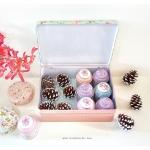 Floral Storage Tin Box กล่องเก็บของ ลายดอกไม้ งานสังกะสี