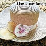 หมวกปีกกว้าง หมวกไปทะเล หมวกสาน สีน้ำตาลเข้ม แต่งโบว์รอบ รอบศรีษะ57-59 cm / ปีกกว้าง 6.5 cm ***ถ่ายจากสินค้าจริงที่ขายค่ะ***