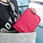 กระเป๋าสตางค์ใส่หนังสือเดินทาง พาสปอร์ต Passport Bag Travelus Pink สีชมพู