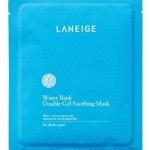 Laneige Water Bank Double Gel Soothing Mask 1 แผ่น แผ่นมาส์คหน้าที่ประกอบไปด้วยน้ำแร่บริสุทธิ์ เพื่อฟื้นฟูผิวและระบบการไหลเวียนความชุ่มชื้นในผิว เพื่อรักษาความชุ่มชื้นไว้ให้ผิวอย่างเพียงพอ ช่วยให้ผิวที่แห้งหยาบกลับเรียบเนียนชุ่มชื้น