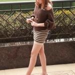 รองเท้าส้นเตี้ยผู้หญิงสีแดง ตัดทูโทน หุ้มส้น หัวกลม ประดับโบว์ ส้นสูง1.5cm แนวหวาน สไตล์แฟชั่นเกาหลี