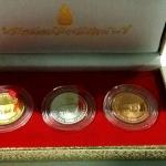 ชุดเหรียญที่ระลึกปฏิทินวันหยุด (ปีกุน) ปี พ.ศ. 2550 ขัดเงาทอง เงิน นาก
