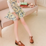 รองเท้าคัทชูผู้หญิงสีส้ม ทรงoxford ฉลุลาย หัวกลม มีเข็มขัดรัดข้อเท้า ส้นสูง4cm แฟชั่นเกาหลี