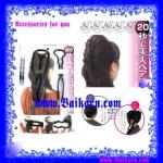 ตัวช่วยที่ช่วยเก็บผมเวลากล้าผม ( Hair Accessories - Hair Plug_Plate ) ไอเท็มที่ช่วยเก็บผมเวลาเกล้าผม สีดำ แบบ 3 ชิ้น