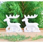 White Reindeer Candle Holders เชิงเทียนกวางสีขาว