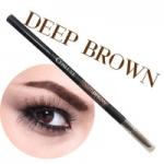 COSLUXE Slimbrow Pencil #Deep Brown สีน้ำตาลเข้ม ดินสอเขียนคิ้วเนื้อฝุ่นอัดแข็ง ช่วยในการแรเงาคิ้วได้อย่างเป็นธรรมชาติที่สุด แท่งหมุนแบบ Auto ไม่ต้องเหลาและ นวัตกรรมหัวเรียวเล็กเพียง 1 mm.ทำให้สามารถ เขียนคิ้วเป๊ะ