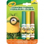 Crayola PRE-HISTORIC MINION Washable Markers สีเมจิกล้างออกได้ 3 แท่ง ปลอดสารพิษ