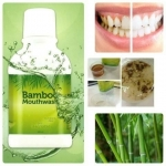 Bamboo Mouthwash 300 ml. สูตรดั้งเดิมขายดี แบมบู น้ำยาบ้วนปากสกัดจากเยื่อไผ่ สลายคราบหินปูนในช่องปากเหมาะกับผู้มีกลิ่นปาก ปากเหม็น ทำความสะอาดได้ทั่วถึง ลดคราบพลัค ลดการสะสมของแบคทีเรีย ป้องกันฟันผุ ระงับกลิ่นปาก ป้องกันปัญหาสุขภาพเหงือก ไม่แสบช่องปาก ระง