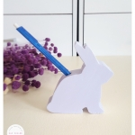 Wooden Bunny With Pen Holder - Little Cutie