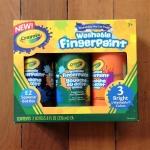 Crayola Washable Finger Paint 8oz: Secondary สีระบายด้วยนิ้ว 3 สี (ม่วง เขียว ส้ม)