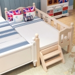 TP21005(WDK6) เตียงนอนไม้ เตียงเดี่ยวสำหรับเด็ก สีเบจ KIDDY WAVE