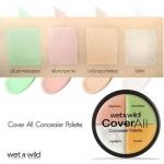 Wet n Wild Coverall Concealer Palette คอนซีลเลอร์พาเล็ต 4สี สุดคุ้มจากอเมริกา ที่เหล่าบล็อกเกอร์ต่างประเทศพากันกล่าวถึง ด้วยเฉดสีที่สามารถนำมาใช้ได้อย่างหลากหลาย พร้อมคุณสมบัติปกปิดดีเยี่ยม