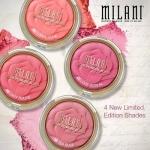 Milani Rose Powder Blush บลัชออนลายดอกกุหลายน่ารักๆ จากอิตาลี เนื้อบางเบา ไม่จับตัวเป็นก้อน เนื้อละเอียดกลืนเข้ากับผิวได้เป็นอย่างดี ให้สีเป็นธรรมชาติ ด้วยเม็ดสีแน่น ติดผิวตลอดวัน รูปลักษณ์สวยหรู สีสันสวยงาม เนื้อแมททุกสีนะคะ ตลับใหญ่ ขนาด 17g. ใช้ได้นานเ