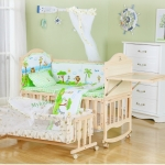 TB10106 (W1) เตียงนอนไม้สำหรับเด็ก สามารถปรับเปลไกว ปรับเป็นโต๊ะเฟอร์นิเจอร์ได้