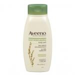 Aveeno Daily Moisturizing Body Wash 532ml. ครีมอาบน้ำที่มีส่วนผสมธรรมชาติจากข้าวโอ๊ต มีกลิ่นหอมอ่อนๆ อ่อนโยนต่อผิวบอบบางแพ้ง่าย ช่วยทำความสะอาดผิวได้สะอาดหมดจด และทำให้ผิวชุ่มชื้นยาวนาน ทำให้คุณมีสุขภาพผิว ที่ดีอย่างเห็นได้ชัด