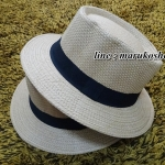 หมวกปานามา ปีกกว้าง หมวกสาน ปานามา สีน้ำตาลเข้มคาดดำ **สินค้าพร้อมส่งค่ะ**
