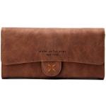 กระเป๋าสตางค์ผู้หญิง ทรงยาว 4Thread Brown สีน้ำตาล