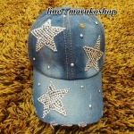 หมวกแก๊ปแฟชั่น หมวกแก็ปผ้ายีนส์ปักเลื่อม รูปถ่ายจากสินค้าจริงที่ขายค่ะ งานสวยๆเนี๊ยบๆ จร้า