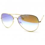แว่นกันแดด แฟชั่น ทรงคลาสสิคอวีเอเทอร์ กรอบสีทอง เลนส์สีน้ำน้ำเงิน การ์เดียน รุ่น LUX-Aviator