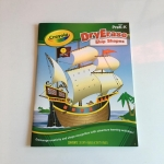 Crayola Dry Erase Ship Shape บอร์ดบุค ใช้กับปากกาไวท์บอร์ด เป็นสมุดกิจกรรม เกม วาดภาพ ระบายสี กระดาษเคลือบ ลบทำใหม่ได้