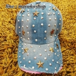 หมวกแก็ปแฟชั่น หมวกแก็ปผ้ายีนส์ปักเลื่อม รูปถ่ายจากสินค้าจริงที่ขายค่ะ
