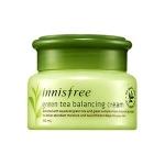 Innisfree Green Tea Balancing Cream 50 ml. ครีมบำรุงผิวสารสกัดจากใบชาเขียวคุณภาพเยี่ยม สำหรับผิวธรรมดา/ผสม เพิ่มความชุ่มชื้นอย่างล้ำลึกให้กับผิว เนื้อครีมซึมซาบสู่เซลล์ผิวอย่างรวดเร็ว พร้อมการบำรุงผิวหน้าด้วยสารสกัดจากชาเขียวและเมล็ดชา จากเกาะเจจูที่อุดมไ