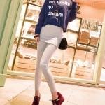 รองเท้าแฟชั่นผ้าใบผู้หญิงสีแดงเข้ม ส้นหนา วัสดุPU แบบเชือกผูก ส้นหนา5cm แฟชั่นเกาหลี