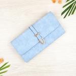 กระเป๋าสตางค์ผู้หญิง ทรงยาว รุ่น Table สีฟ้า ใส่มือถือไอโฟน 6s พลัสได้ ส่งพร้อมกล่อง