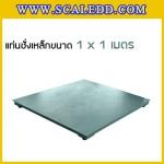 แท่นชั่งน้ำหนักแบบตั้งพื้น (Floor scale) ขนาด 1x1เมตร รับน้ำหนักตั้งแต่ 500 กิโลกรัม - 3 ตัน