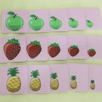 การ์ดเกมเรียงลำดับรูปภาพ รูปผลไม้ สำหรับเด็ก 3 ขวบ