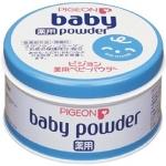Pigeon Medicated Baby Powder 150 g. กระปุกฟ้า แป้งเด็กพีเจ้นสามารถป้องกันผดผื่นและปกป้องผิวได้อย่าง อ่อนโยน ใช้ร่วมกับพัฟทาแป้งพีเจ้น ทาหลังอาบน้ำ หรือหลังจากการเปลี่ยนผ้าอ้อม แป้งเด็กพีเจ้นผ่านการทดสอบด้านการแพ้และระคายเคืองต่อผิวหนังแล้ว