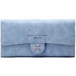 กระเป๋าสตางค์ผู้หญิง ทรงยาว 4Thread Blue สีฟ้า