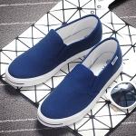 รองเท้าผ้าใบแฟชั่นผู้หญิงสีฟ้า ใส่เหยียบส้นได้ แบบสวม เรียบง่าย ดูดี น่ารัก ใส่ลำลอง