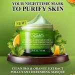 Kiehl's Cilantro & Orange Extract Pollutant Defending Masque 75 ml. มาส์กสูตรใหม่ เนื้อมาสก์ครีมอุดมไปด้วยสารสกัดจากส้มซ่าและผักชีจากยุโรปช่วยฟื้นฟูปราการคุ้มกันผิวหลังจากเผชิญจากมลภาวะ ช่วยปลอบประโลมและคืนความชุ่มชื่นน่าสัมผัสให้กับผิว