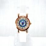 นาฬิกาข้อมือ แฟนเชลซี สายหนังเรือนทองสีขาว